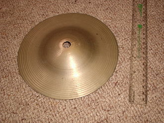 Bell cymbal - Bell cymbal made by cutting down a larger cymbal