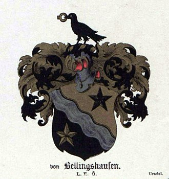Fabian Gottlieb von Bellingshausen - Coat of arms of Bellingshausen family