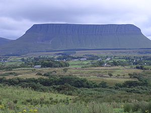 Benbulbin - Another view of Benbulbin's northern side, this time from a greater distance.