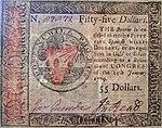Benjamin Franklin nature printed 55 dollar front 1779.jpg