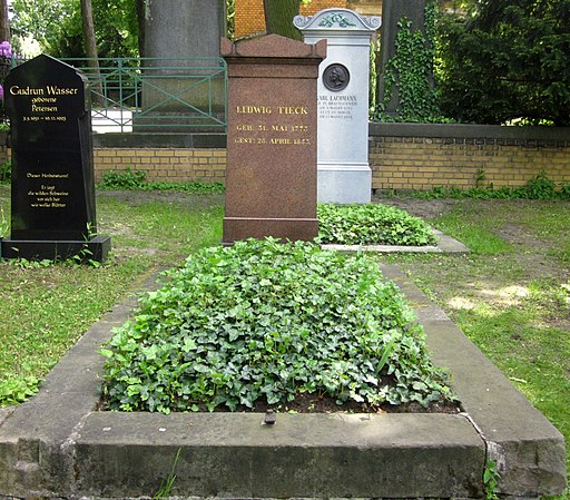 Berlin, Kreuzberg, Bergmannstrasse, Dreifaltigkeitsfriedhof II, Grab Ludwig Tieck