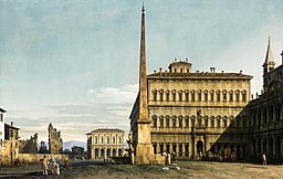 Bernardo Bellotto - Rome - View of the Piazza di San Giovanni in Laterano - WGA01820