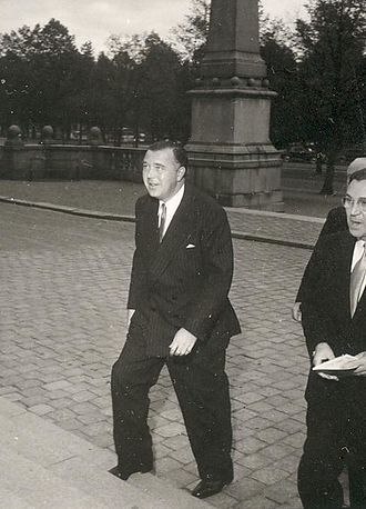 Prince Bertil, Duke of Halland - Bertil arrives for an event at the Nordic Museum about 1950