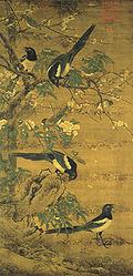 Bian Jingzhao-Four Magpies