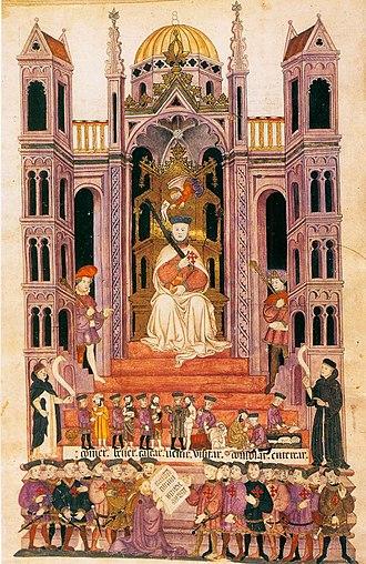 Alba Bible - Detail from Belshazzar's Feast
