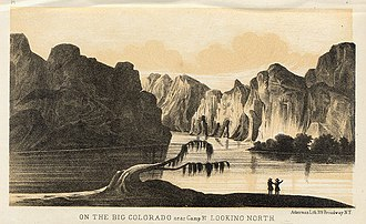 Sitgreaves Expedition - On the Big Colorado, near Camp 37 by J. Ackerman.