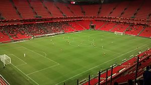 Athletic Bilbao B - Bilbao Athletic played home games at San Mamés during the 2015–16 season due to the league requirements, but attracted crowds of only a few thousand for most games.