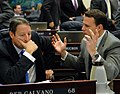 Bill Galvano and Will Weatherford confer on the House floor.jpg