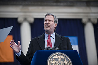 Bill de Blasio - De Blasio speaking at his January 2010 inauguration