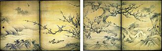 Kanō Eitoku - Image: Birds and flowers of the four seasons