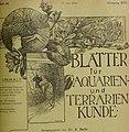 Blätter für Aquarien- und Terrarien-Kunde (1905) (20200892169).jpg