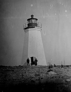 Black Rock Harbor Light - 19th century view of the Light