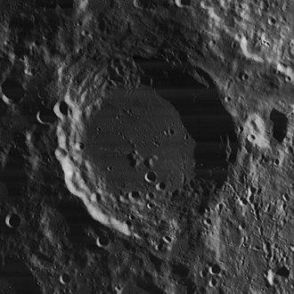Blancanus (crater) - Lunar Orbiter 4 image