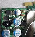 Blown capacitor on video card.jpg