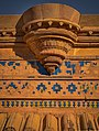 Blue and Yellow Colored tiled exterior walls at the Gwalior Fort.jpg