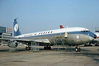 Sabena Flight 571 - The incident aircraft at Heathrow on 7 June 1976
