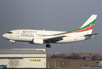 Tatarstan Airlines Flight 363 - VQ-BBN at Václav Havel Airport Prague in 2011.