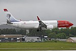 Boeing 737-8JP(w) 'LN-DYV' Norwegian Air Shuttle (44064301255).jpg