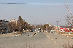 View of the town in February 2012