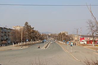 Bolshoy Kamen - View of the town in February 2012