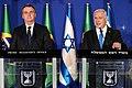 Bolsonaro with Israeli Prime Minister Benjamin Netanyahu in Tel Aviv, 31 March 2019.jpg