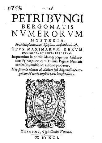 Numerology - Numerorum mysteria (1591), a treatise on numerology by Pietro Bongo and his most influential work in Europe.