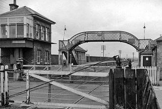 Bonnyrigg - Bonnyrigg railway station in 1962