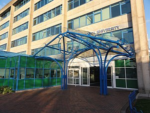 Bournemouth University - Main entrance on the Talbot Campus
