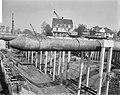 Bouw Caisson voor Coentunnel in Amsterdam-Noord Overzicht IJ-caisson, Bestanddeelnr 915-0233.jpg