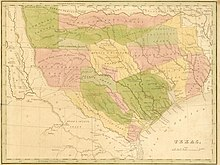 Map Of Texas 1835.Mexican Texas Wikipedia