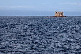 Bréhon Tower sea fort in Guernsey