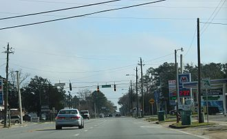 Bristol, Florida - Looking east at Bristol on State Road 20