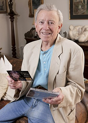 Vince Hill - Hill at his Oxfordshire home holding his 55th Anniversary 'Legacy' hits CD, June 2017