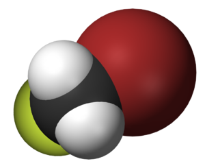 Bromofluoromethane - Image: Bromofluoromethane 3D vd W