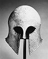 Bronze helmet of Corinthian type MET 260020.jpg