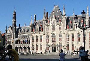 Provinciaal Hof - The Provinciaal Hof, on the market place of Bruges
