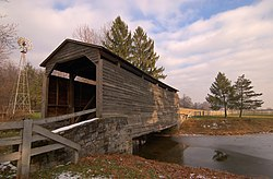 Buck Hill Farm Covered Bridge in Warwick Township