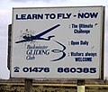 Buckminster Gliding Club notice board - geograph.org.uk - 710894.jpg