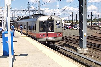 M2 (railcar) - An MTA-owned Budd M2 car at New Haven-Union Station, August 2006.