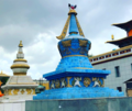 Buddhist stupas in the monastery.png