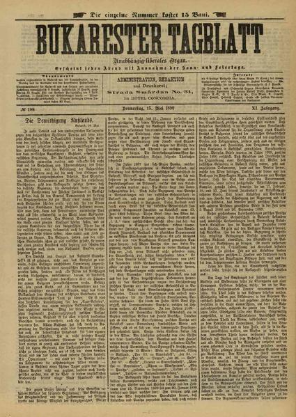 File:Bukarester Tagblatt 1890-05-15, nr. 108.pdf