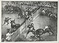 Bullfight in a divided ring, from the 'Bulls of Bordeaux' MET DP124107.jpg