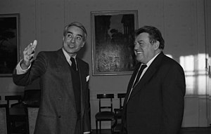 Richard Burt - Richard Burt (left) with Franz Josef Strauß