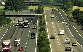 Bundesautobahn 3 - The A3 in 1991