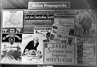 The Shooting Star - Anti-Semitic and anti-English propaganda on display in an exhibition in Brussels in 1941