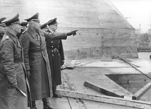 Wilhelm Fahrmbacher - Fahrmbacher next to Erwin Rommel in Saint-Nazaire (18 February 1944)