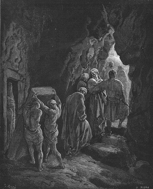 Chayei Sarah - Burial of Sarah (engraving by Gustave Doré from the 1865 La Sainte Bible)
