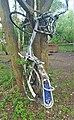 Burned Veturilo rental bike at Blonia Wilanowska.jpg