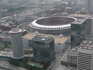 Busch Memorial Stadium - Image: Busch Stadium new construction