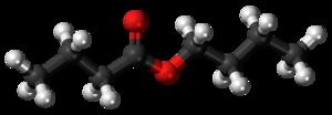 Butyl butyrate - Image: Butyl butyrate 3D ball